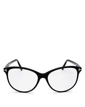Tom Ford - Women's Round Blue Filter Glasses, 53mm