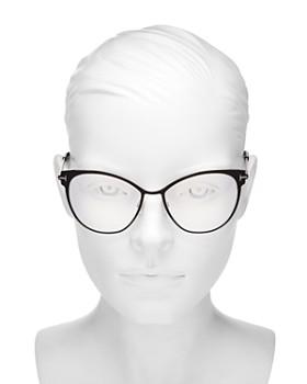 09587c02e8f6 ... 54mm Tom Ford - Women's Cat Eye Blue Filter Glasses, 54mm