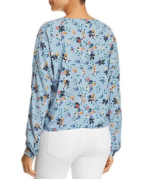 BeachLunchLounge - Sadie Floral Tie-Front Top