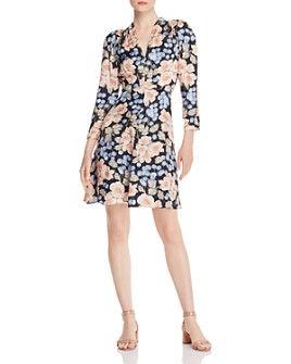 Rebecca Taylor - Floral-Print V-Neck Dress