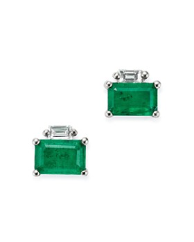 Bloomingdale's - Gemstone & Diamond-Accent Stud Earrings in 14K Yellow Gold - 100% Exclusives