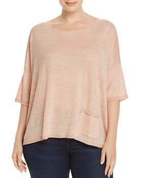 567b9c1bb20084 Eileen Fisher Plus - Lightweight Organic Linen Sweater ...