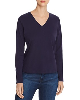 Eileen Fisher - V-Neck Organic Cotton Tee