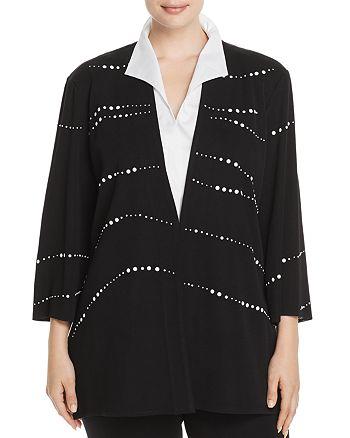 Misook Plus - Embellished Knit Jacket