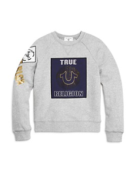 True Religion - Boys' Gold-Metallic Logo Sweatshirt - Little Kid, Big Kid