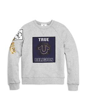 True Religion - Boys' Gold-Metallic Logo Sweatshirt - Little Kid, Big Kid