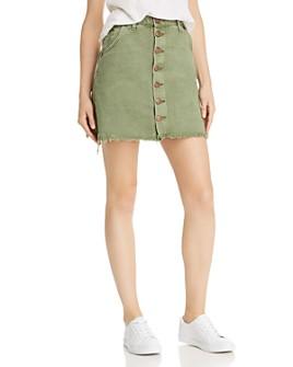 One Teaspoon - Viper Button-Front Denim Skirt