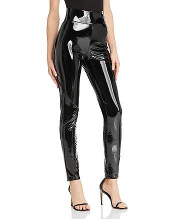 Tiger Mist - Back It Up Faux Patent Leather Pants