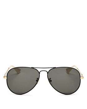 Gucci - Unisex Aviator Sunglasses, 60mm