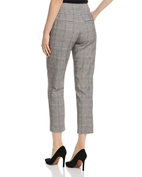 Joie - Abony Glen Plaid Cropped Straight-Leg Trousers