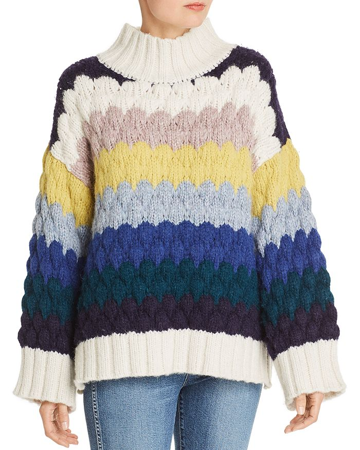 Eleven Six - Freye Stripe Slouchy Sweater