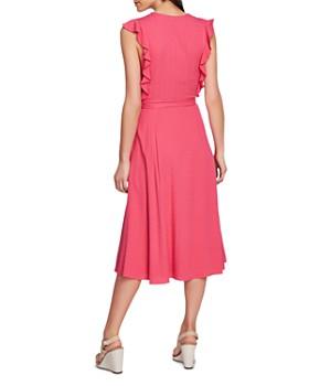 5a86ecbec1b471 STATE - Sleeveless Ruffle-Trim Midi Dress 1.STATE - Sleeveless Ruffle-Trim  Midi Dress
