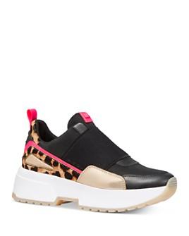 MICHAEL Michael Kors - Women's Cosmo Mixed Media Slip-On Sneakers