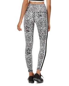 All Fenix - Track-Stripe Leopard Print Leggings