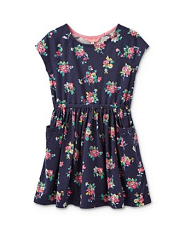 Joules - Girls' Jude Floral-Print Dress - Little Kid, Big Kid