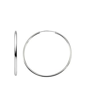 Aqua Large Hoop Earrings in 18K Gold-Plated Sterling Silver or Sterling Silver - 100% Exclusive