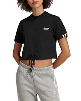 Adidas - Ruched Drawstring Cropped Tee