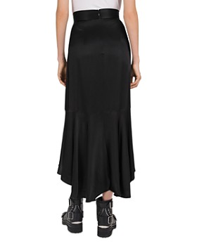 The Kooples - Asymmetric-Ruffle High/Low Midi Skirt