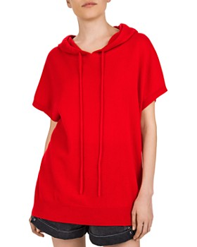 The Kooples - Short Sleeve Cashmere Hoodie