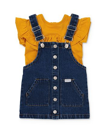 7 For All Mankind - Girls' Ruffled Tee & Denim Jumper Set - Baby