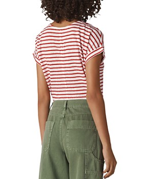 Whistles - Relaxed Striped-Linen Tee