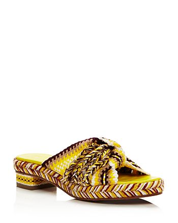 ANTOLINA - Women's Woven Slide Sandals