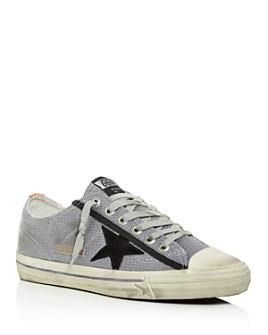 Golden Goose Deluxe Brand - Unisex V-Star 2 Net Distressed Low-Top Sneakers