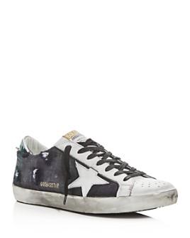 Golden Goose Deluxe Brand - Unisex Superstar Checked Wool Low-Top Sneakers
