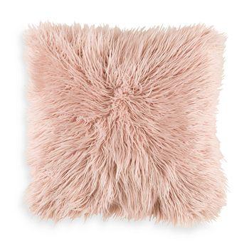 "Surya - Faux Fur Throw Pillow, 22"" x 22"""