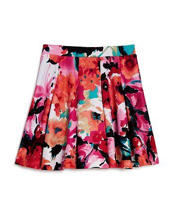 AQUA - Girls' Floral Pleated Skirt, Big Kid - 100% Exclusive