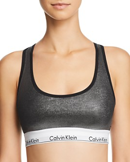 Calvin Klein - Modern Wet Look Unlined Bralette