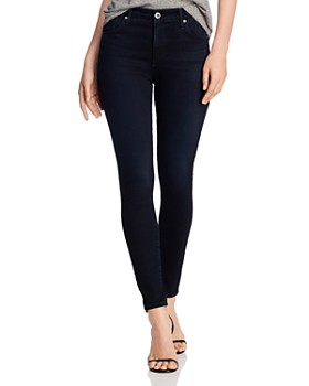 AG - Farrah Skinny Ankle Jeans in Blue Above