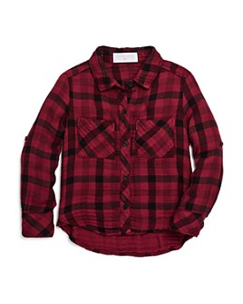 Bella Dahl - Girls' Double-Pocket Plaid Shirt - Little Kid, Big Kid