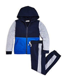 Mini Series - Boys' Color-Block Hoodie & Striped Jogger Pants, Little Kid - 100% Exclusive