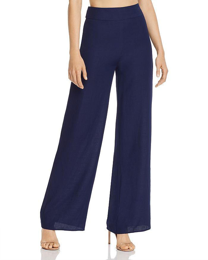 AQUA - Wide-Leg Pants with Sash Belt - 100% Exclusive