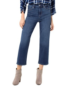 Liverpool Los Angeles - Stevie Cropped Stovepipe Jeans in Rockaway Blue