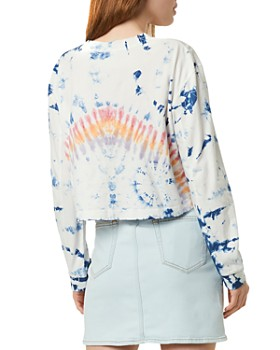 FRENCH CONNECTION - Zinnia Cropped Tie-Dyed Long-Sleeve Tee