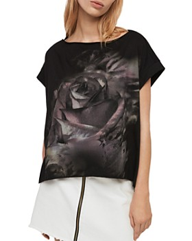 518a9ce4 ALLSAINTS Women's Tops: Graphic Tees, T-Shirts & More - Bloomingdale's
