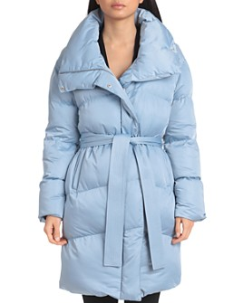 Avec Les Filles - Belted Wrap Puffer Coat