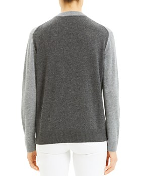 Theory - Colorblocked Crewneck Cashmere Sweater