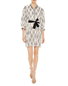 Sandro - Celian Geo-Lace Pattern Dress