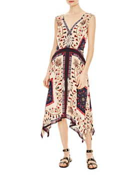 Sandro - Lee Tapestry-Inspired Mixed-Print Dress