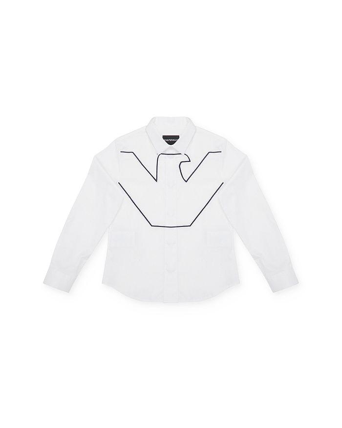 Armani - Boys' Logo Button-Up Shirt - Little Kid, Big Kid