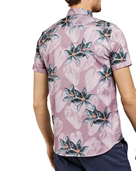 Ted Baker - Myles Tropical Print Slim Fit Shirt