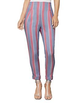 BCBGMAXAZRIA - Striped Slim Ankle Pant