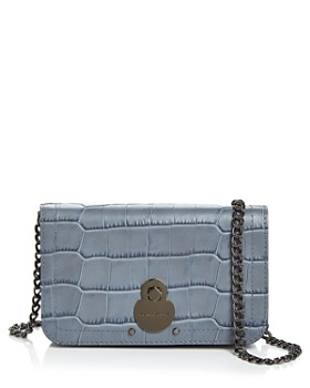 Longchamp - Cavalcade Croc-Embossed Chain Wallet