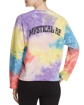 MOTHER - The Champ Cropped Tie-Dye Sweatshirt