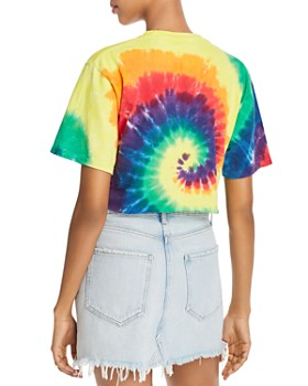 FRENCH CONNECTION - Pride Cropped Tie-Dyed Cotton Tee