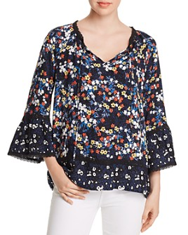 Single Thread - Mixed Floral-Print Blouse