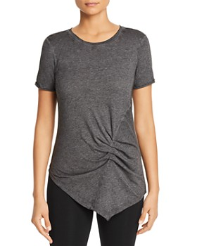 Marc New York - Ruched Asymmetric Tee